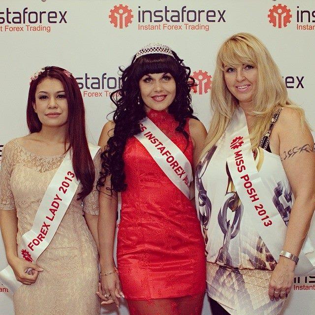 Dian Kemala bersama pemenang Miss Instaforex lainnya