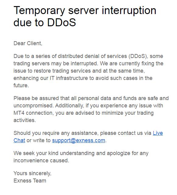 Serangan DDoS Exness