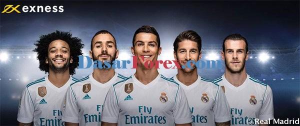 Kerjasama Exness dan Real Madrid