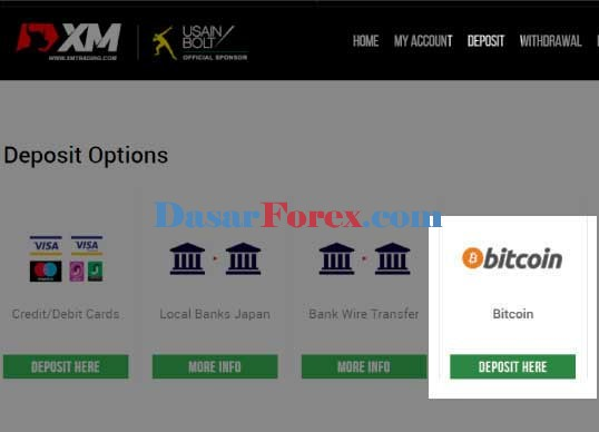 deposit Bitcoin ke akun trading XM