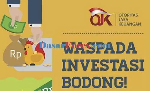Daftar investasi bodong OJK termasuk broker forex