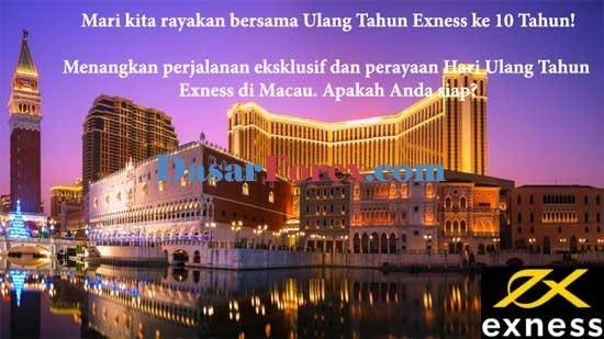 Kontes Ultah EXNESS di Macau ke 10