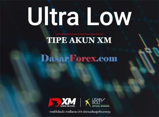 Tipe akun Ultra Low XM