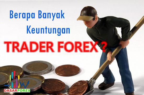 Berapa Banyak Keuntungan Trader Forex