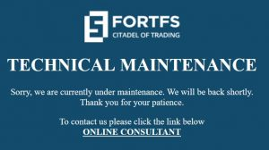 Login FortFS tidak bisa diakses
